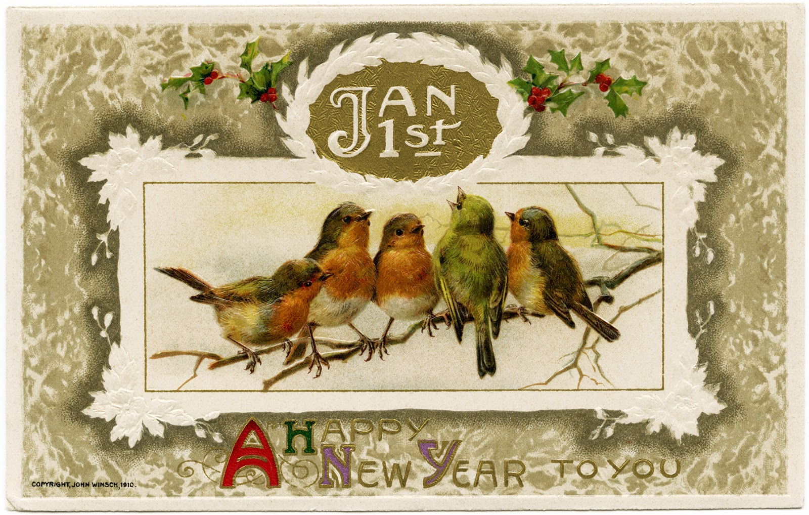 The Empty Nest: ~Happy Vintage New Year from The Empty Nest