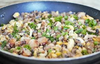 spécialité brésilienne aux fèves, charcuterie, viande séchée