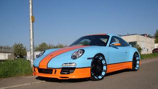 Gulf-themed Porsche 911 on 20 Inch Oxigin Wheels