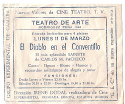 Programa de Teatro. Año aprox. 1960