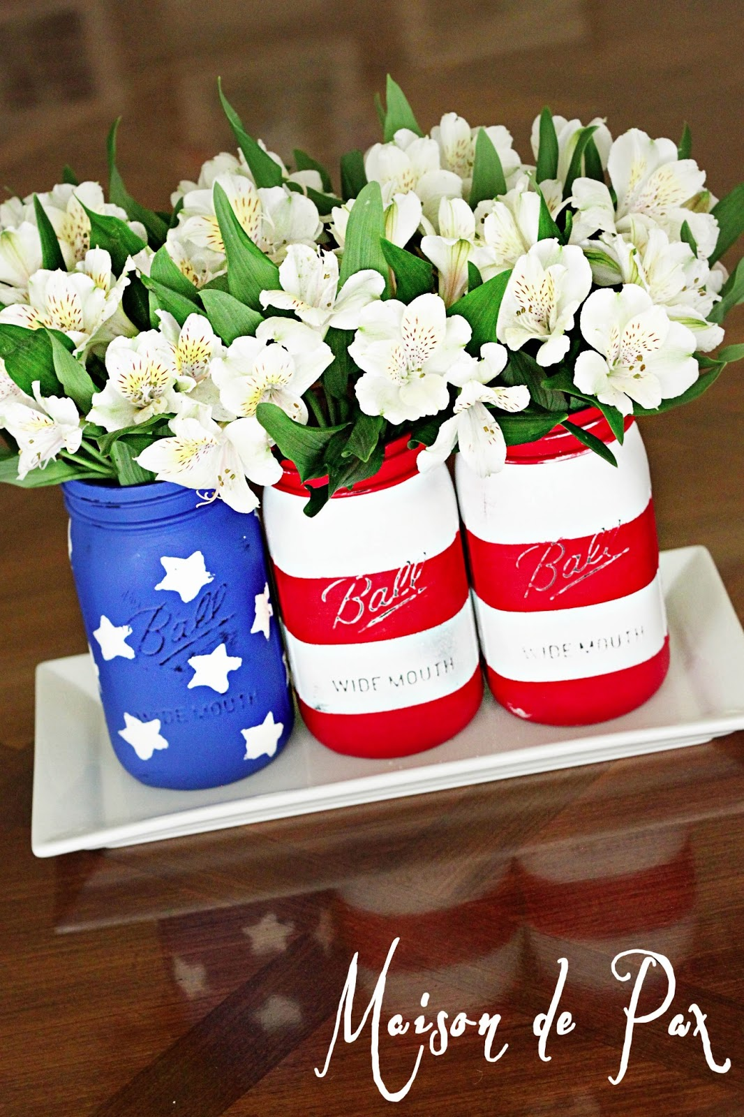 American flag mason jars maison de pax for American flag decoration ideas