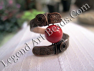 Red-Coral-and-Copper-Ring