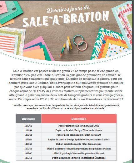 Sale-a-Bration 2017 dernières minutes