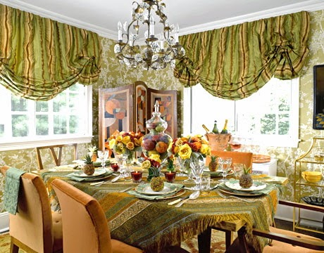 dining room table decorating ideas for holiday