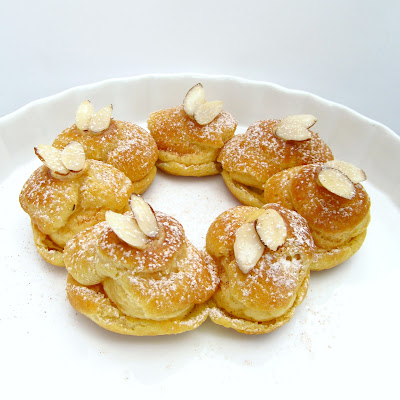 rise and shine almond paris brest with apricot french buttercream. Black Bedroom Furniture Sets. Home Design Ideas