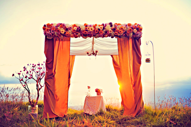 Wedding ceremony decor altars canopies arbors arches for Altar decoration wedding