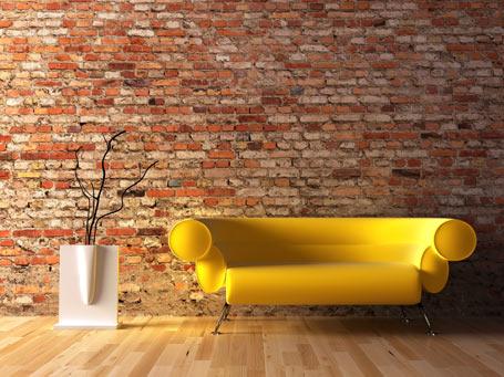 Marzua: paredes de ladrillo rústico en la decoración del hogar