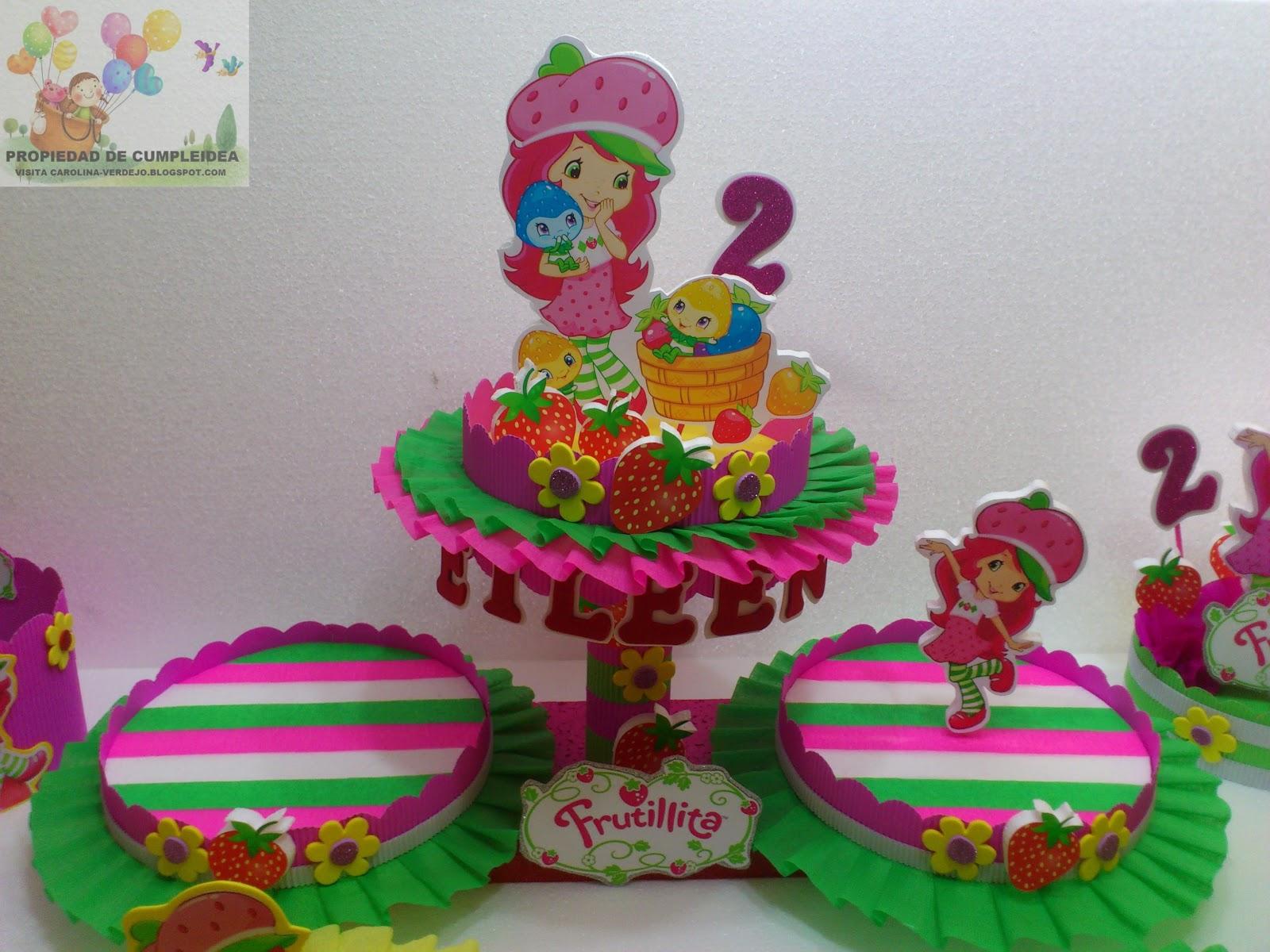 Decoraciones infantiles frutillita aventuras en tuti fruti for Mesas para cumpleanos infantiles