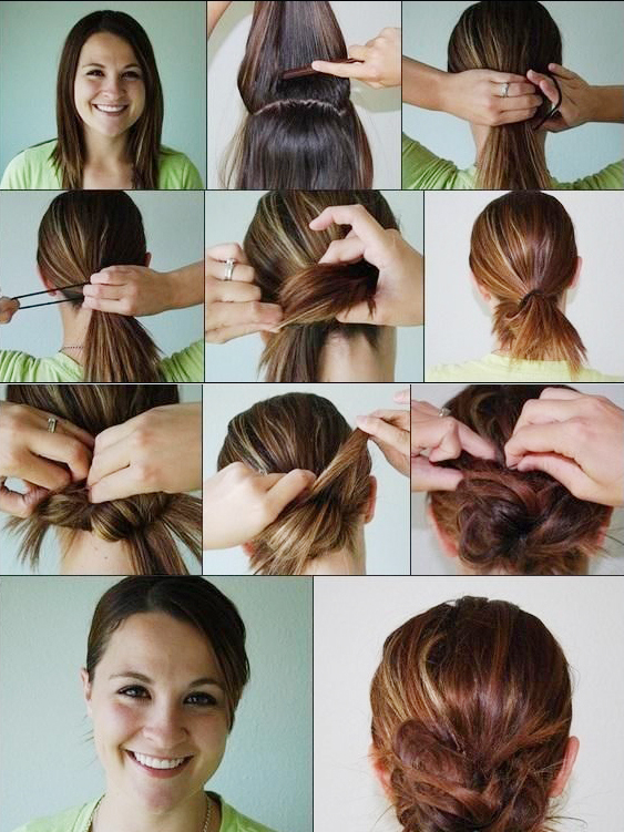 Steps to make a messy bun for medium hair calgary edmonton steps to make a messy bun for medium hair urmus Gallery