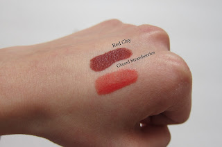 lip gloss and diva stix swatch