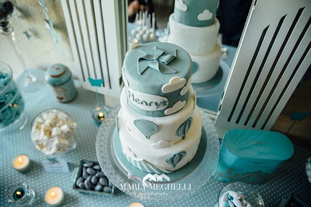 gâteau bleu blanc