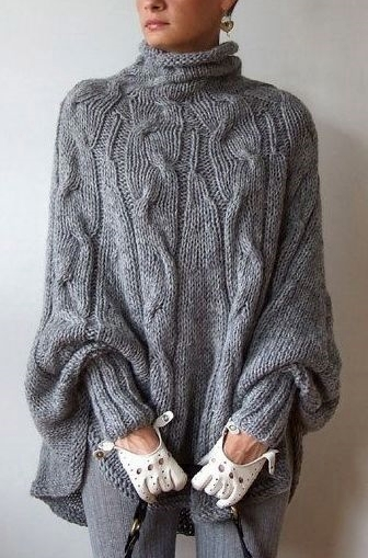 Knitting Patterns Modern Jumpers : Dziana Moda