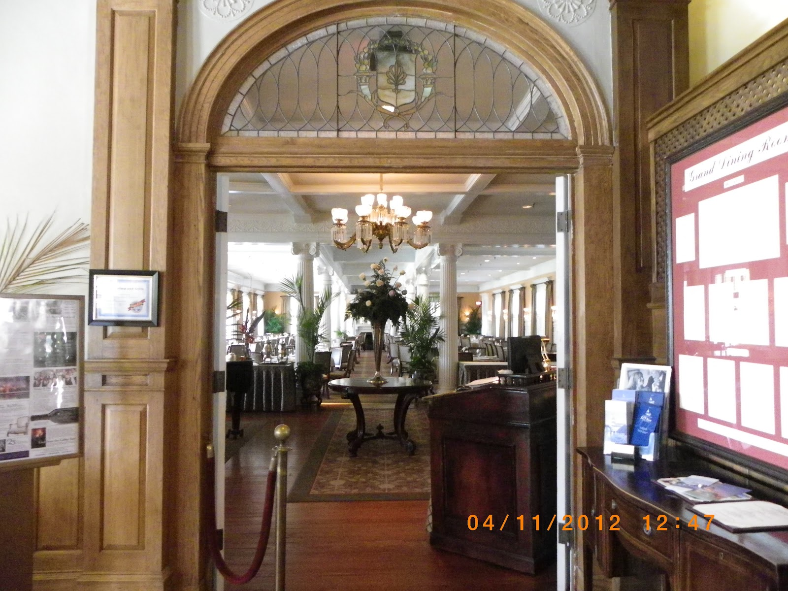 Attractive Entrance To The Grand Dining Room.
