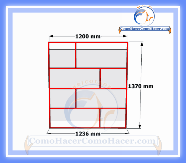 Brico diy plano mueble de melamina estante librero web for Melamina medidas