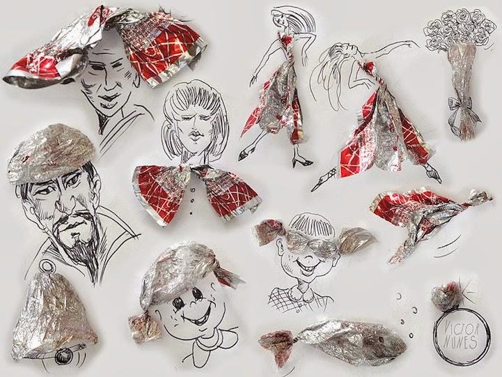 الابداع بلا حدود-لوحات فنية نصها مرسوم ونصها حقيقي Design-fetish-Victor-Nunes-objects-illustrations-into-faces-11