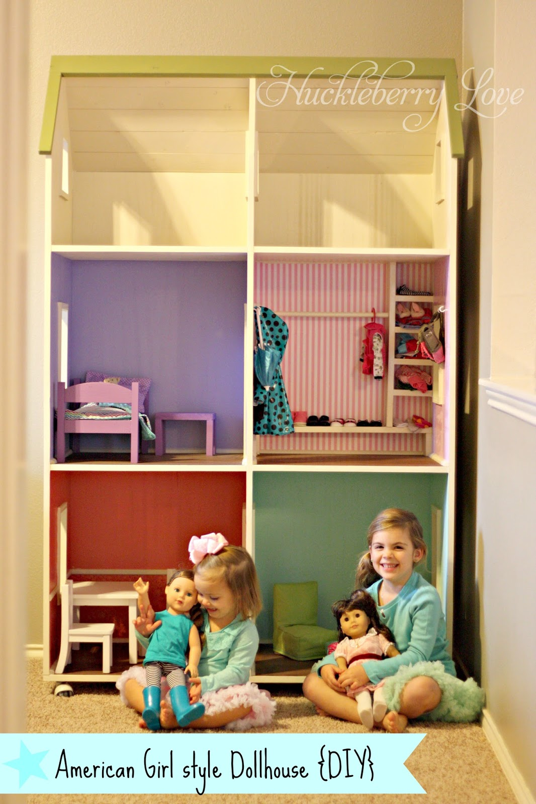 Huckleberry Love American Girl style Dollhouse DIY