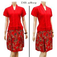 Model Baju Dress Batik terbaru