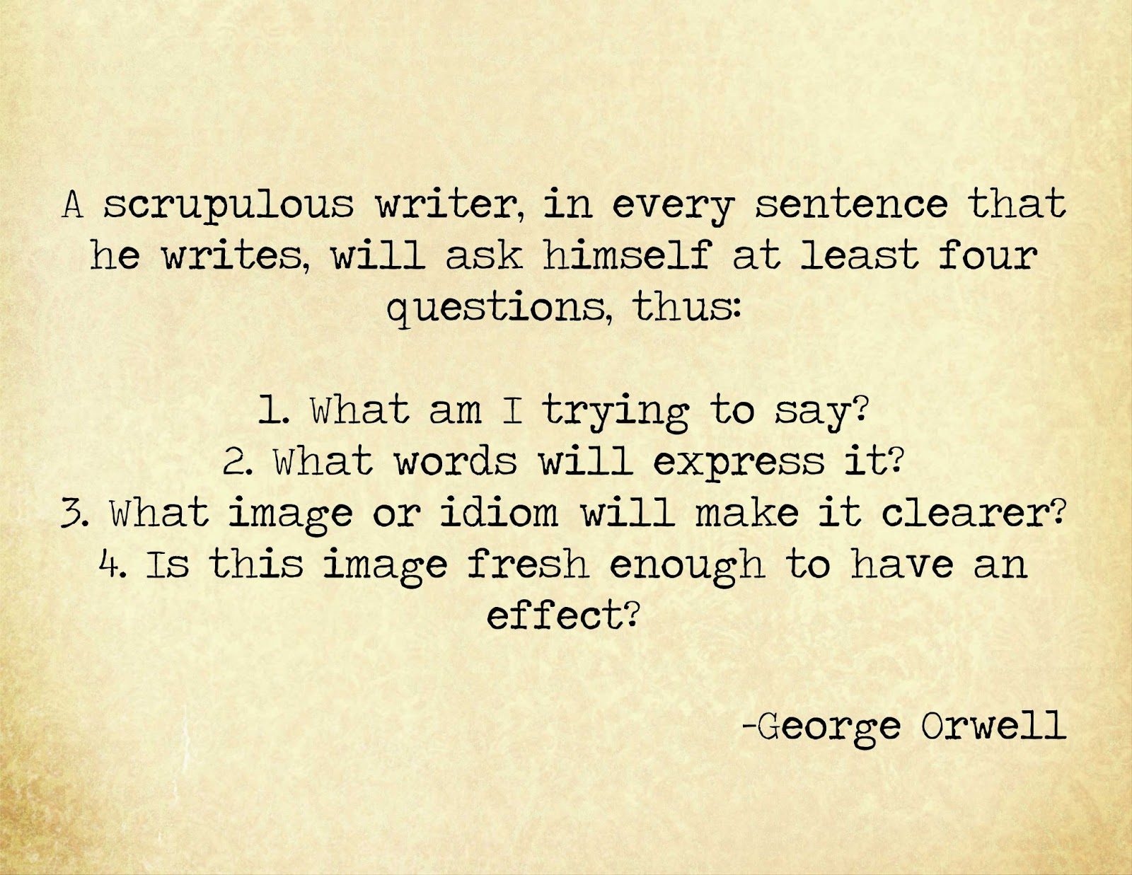 george orwell quotes on writing