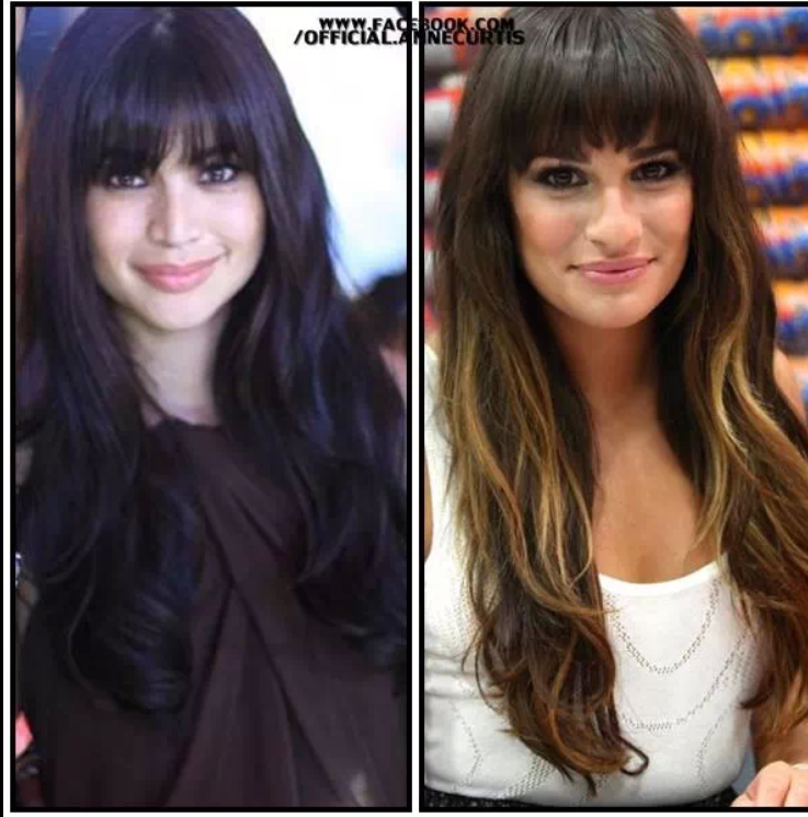 Fashion PULIS Separated At Birth Anne Curtis And Lea Michele