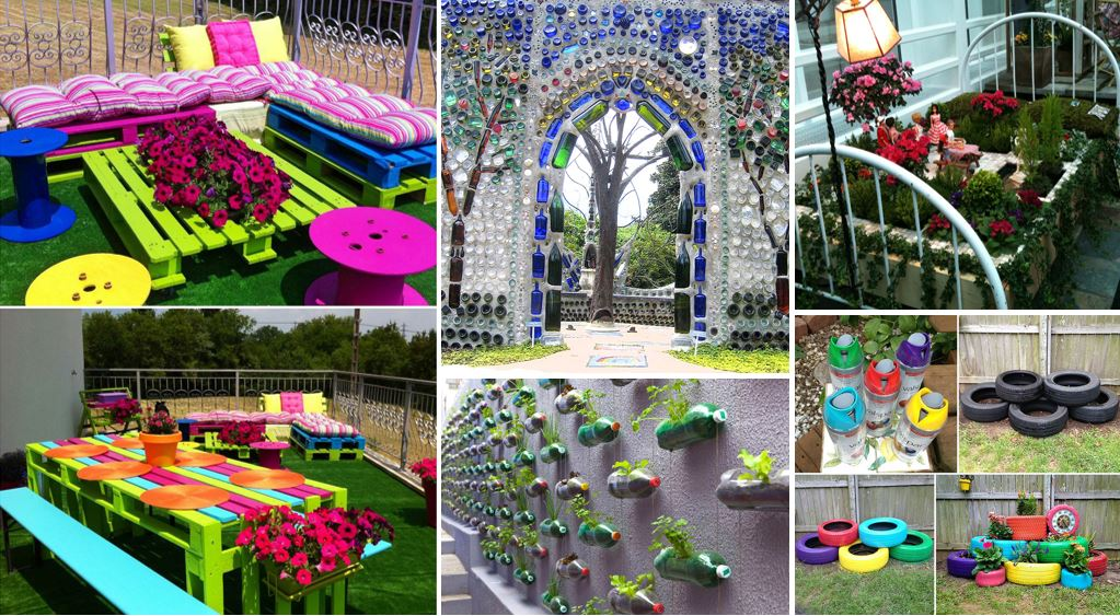 Creative diy gardening ideas with recycled items for Fun garden decoration ideas