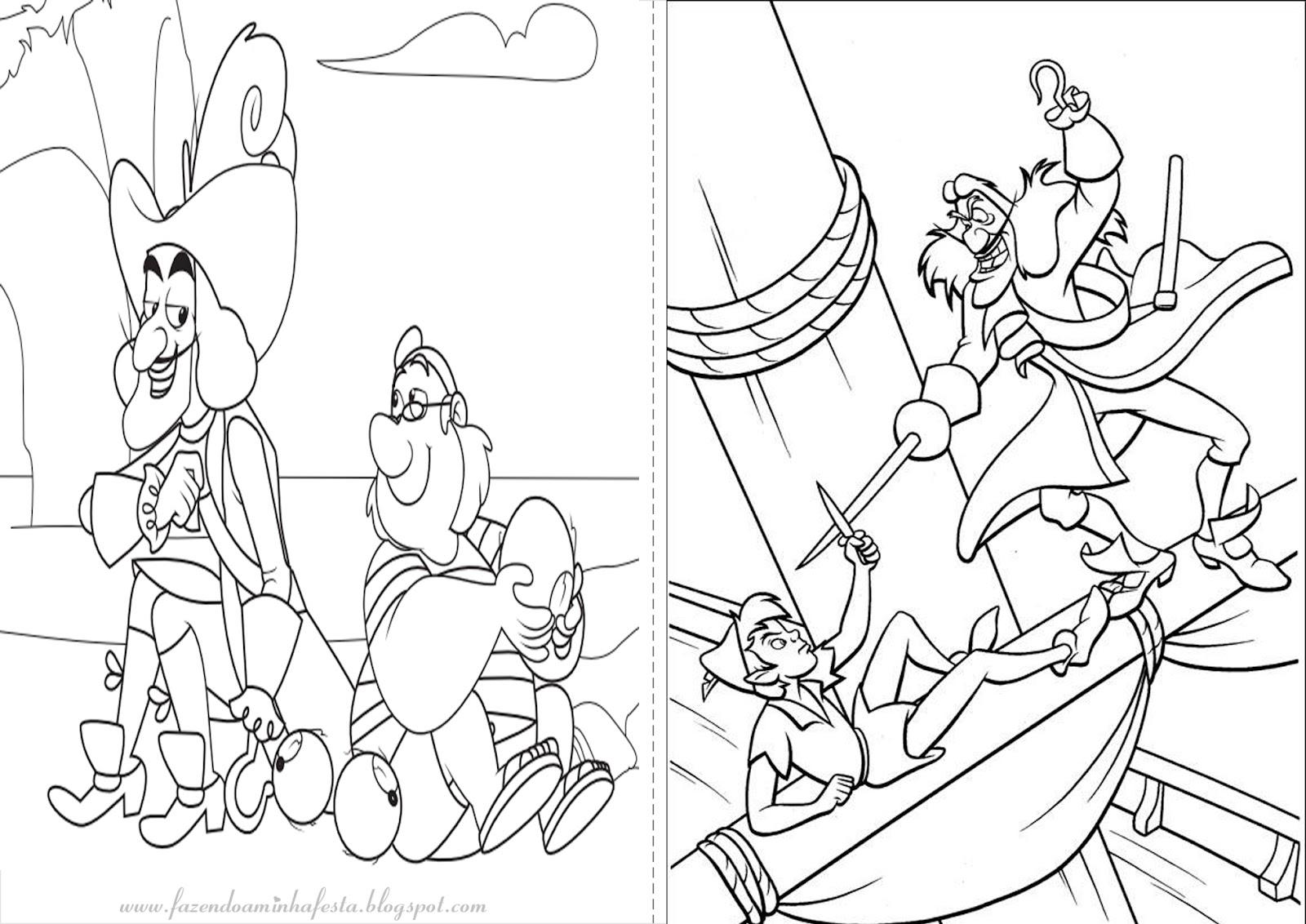 Desenhos do Jake e os piratas da Terra do Nunca para colorir