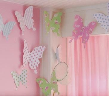 Decoraci n y afinidades mariposas en cuartos de ni as - Mariposas para pared ...