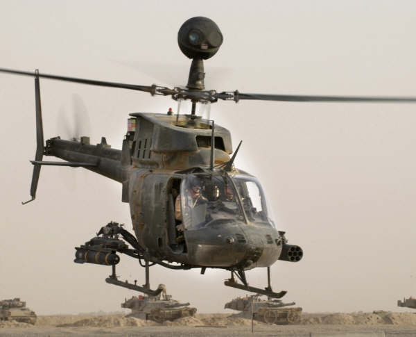 OH-58D Kiowa US light attack  helicopter
