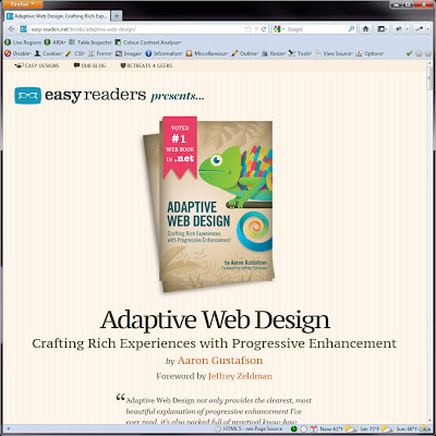 Screen shot of http://easy-readers.net/books/adaptive-web-design/.