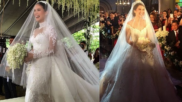 Heart Evangelista vs Marian Rivera Wedding Gowns