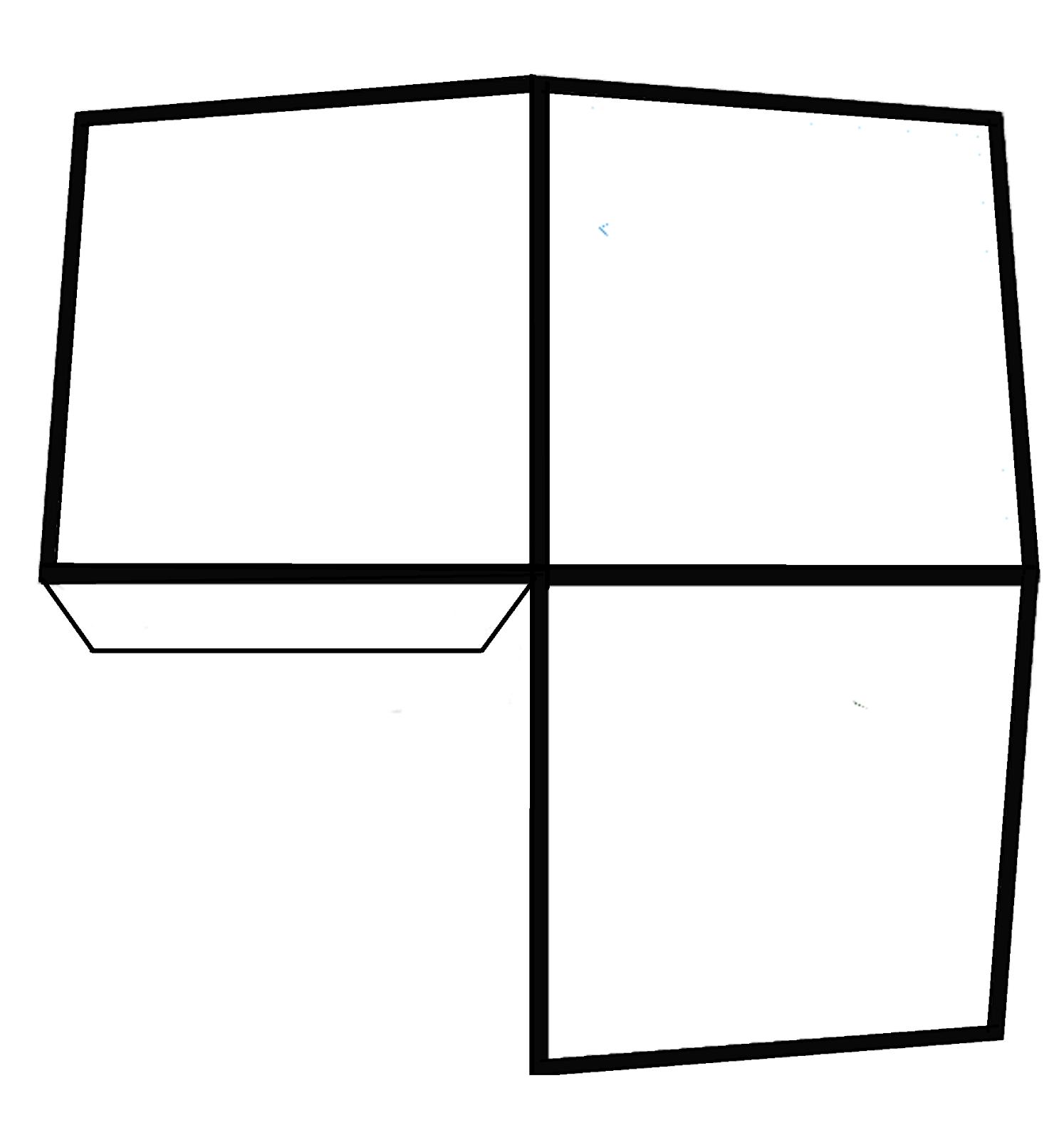 le cube magique et le t. rex qui vous suit du regard - une illusion