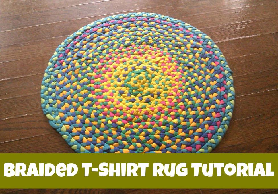 How To Make A Braided T Shirt Rug, DIY Tutorial