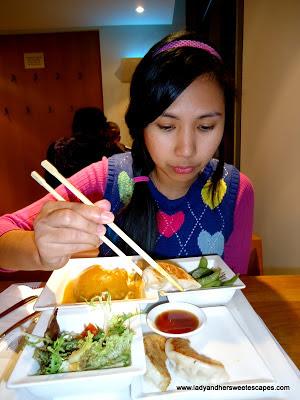 Lady Eating at Wagamama