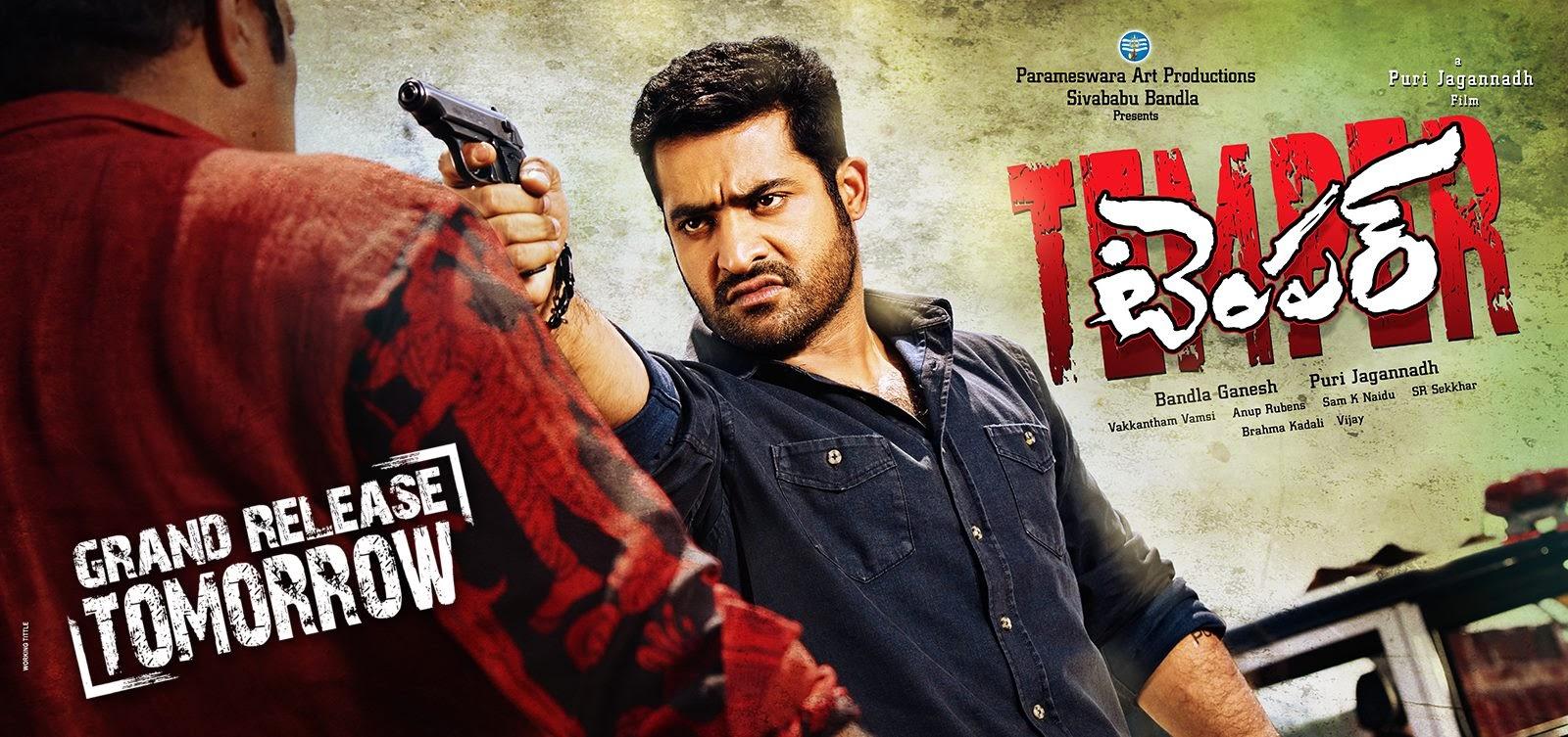 Jr Ntr - Puri Jagannath's Temper Telugu Movie Release Posters