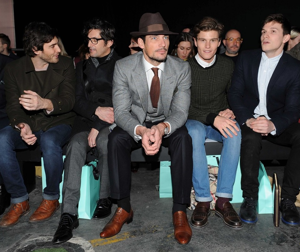 David Gandy en el front row de London Collection
