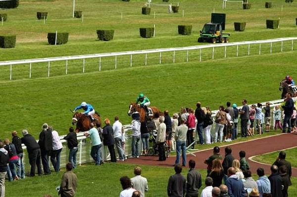 ディープインパクト産駒アクアマリンがフランスの未出走馬戦でデビュー勝ちの様子5