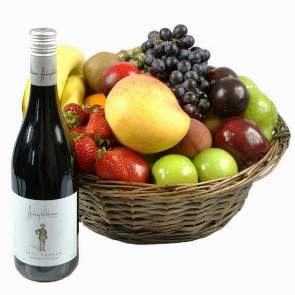 hampers and gift baskets featuring fruit for delivery in newcastle
