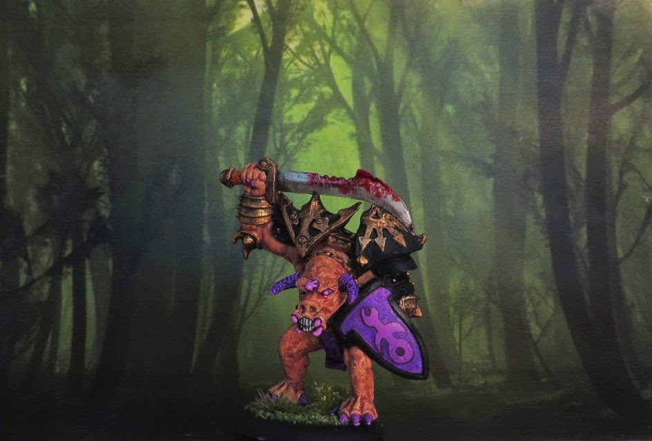 Dusk, Demon, Realm, Chronopia, old, oop, painted, oldhammer, slaanesh, demon