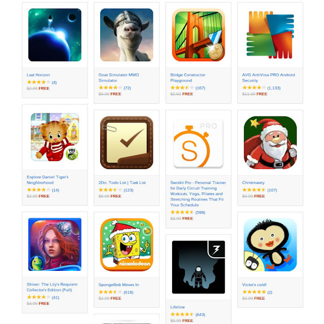 Amazon Free Android Apps