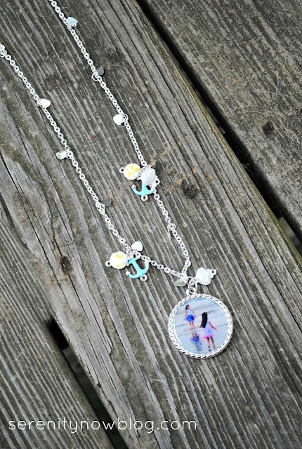 "Beach ""Memories"" Photo Pendant Necklace, from Serenity Now blog"