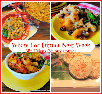 Whats For Dinner Next Week 9-25-16 to 10-1-16