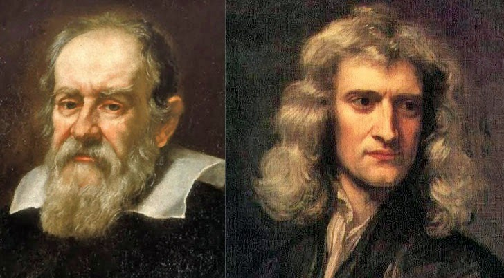 galileo and newton The clip deals with the discoveries of four major scientists and the impact of their  findings: galileo galilei, isaac newton, james clerk maxwell.