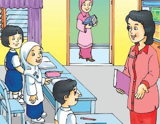 humor antara murid dan gurunya