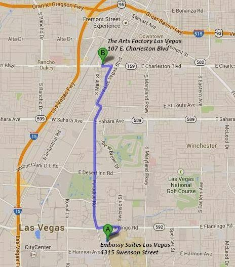 The Arts Factory is 4 miles/10 minutes from Embassy Suites Las Vegas