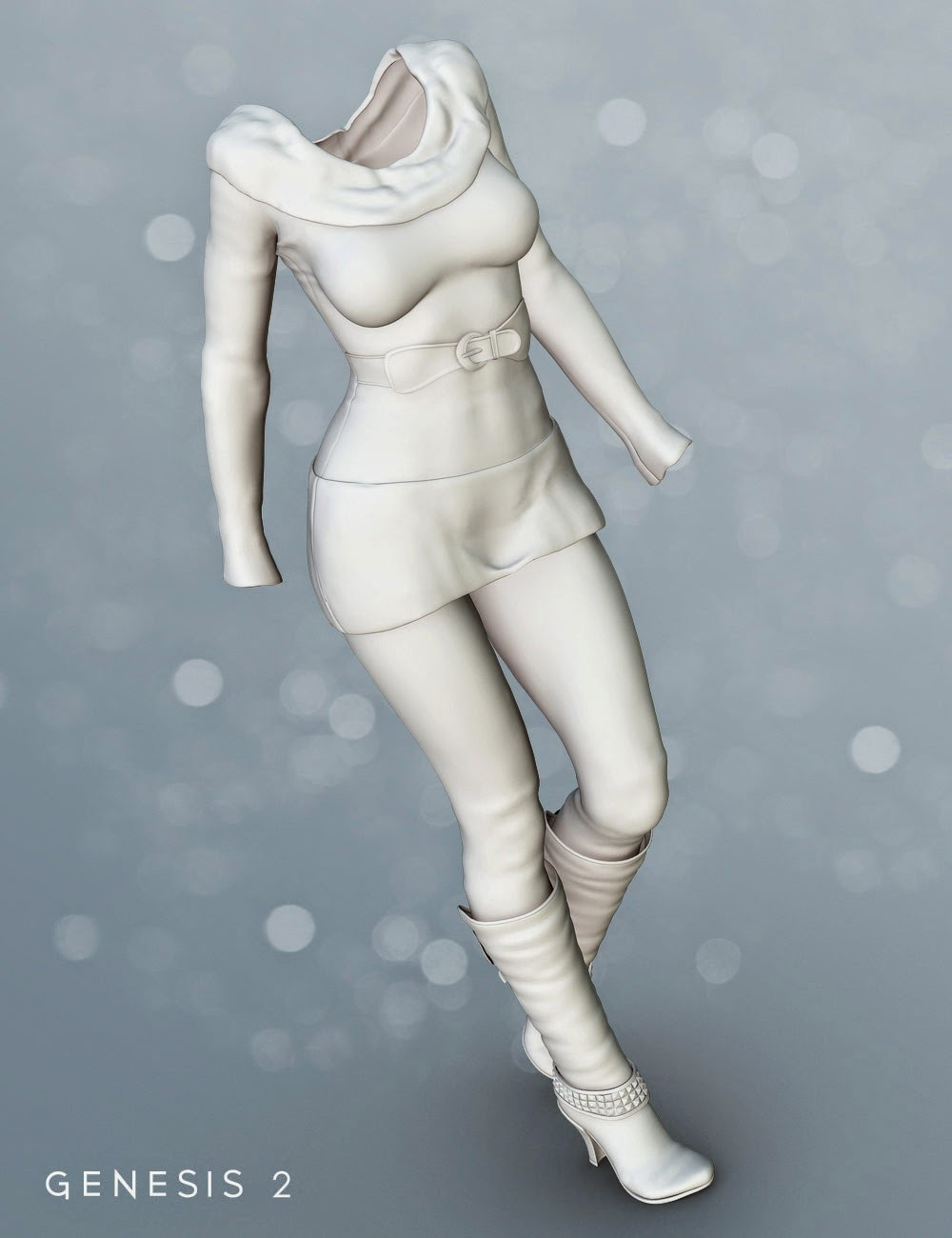 Modern GoGo Outfit for Genesis 2 Female