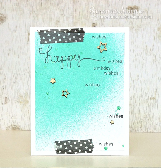 Happy Birthday card by Samantha Mann for Newton's Nook Designs | Simply Sentimental Stamp Set