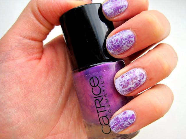 china glaze light as air catrice heavy metallilac saran wrap manicure nails swatch
