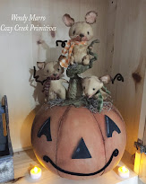 Happy Jack Pumpkin With Tiny Mice