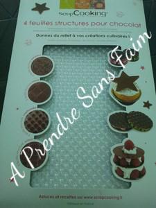 Reliefs en chocolat