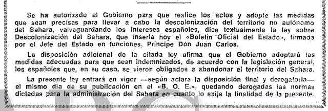 La retirada de España del Sáhara paso a paso