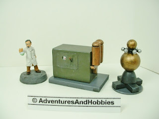 25 to 28 mm scale scenery for science fiction miniature war games and role-playing games.